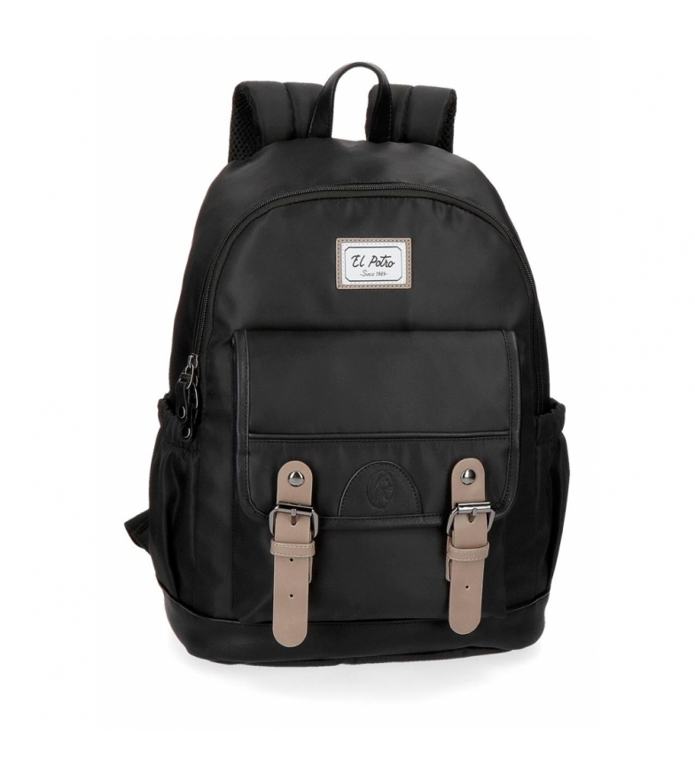 Comprar El Potro Casual backpack El Potro Pipe Black -30x40x15cm-