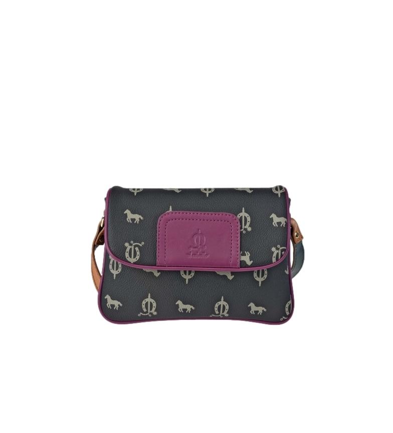 Comprar El Caballo Canvas leather shoulder bag black -21x15x6cm