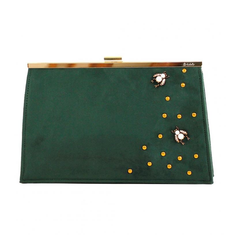 Comprar El Caballo Sac de fête vert Alanis -28x18x6,5 cm