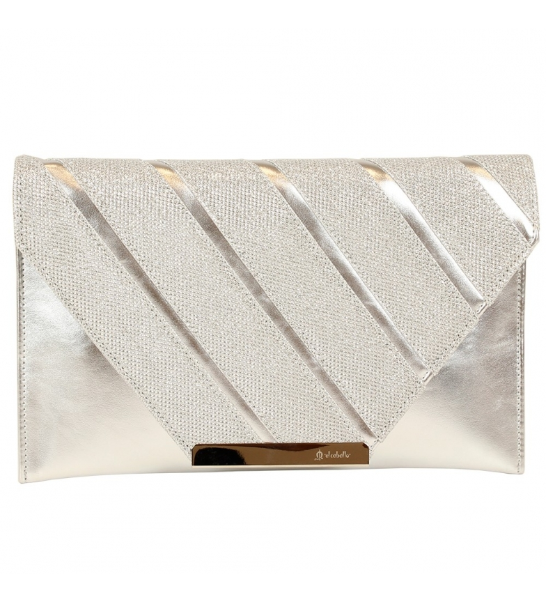 Comprar El Caballo Riofrío party bag grey -28x17x1 cm