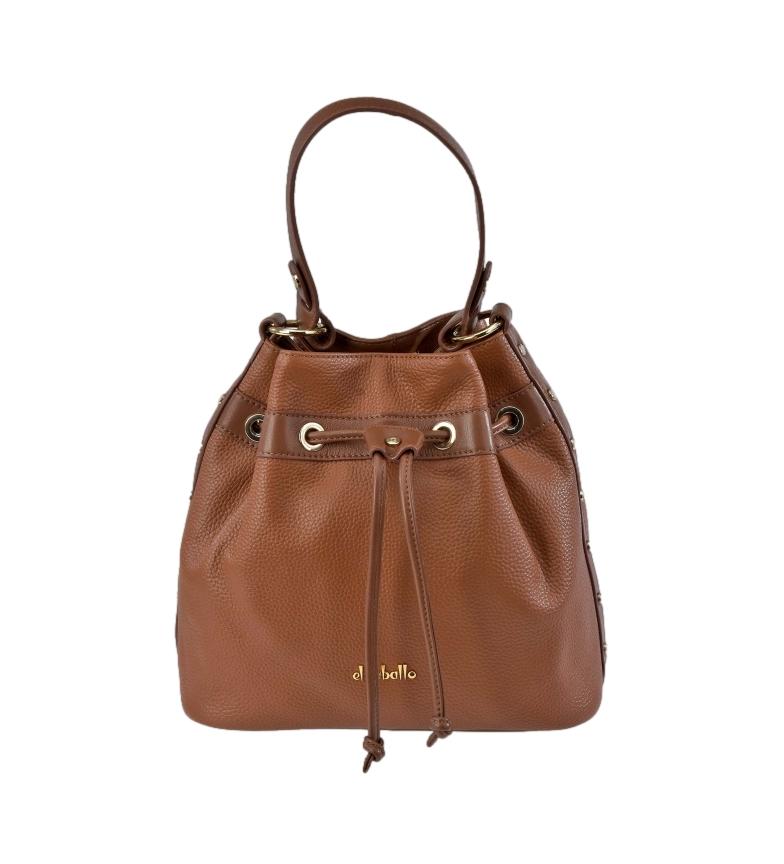 El Caballo Judas leather bag Floather cognac -26x26x12cm