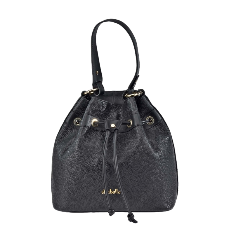 Comprar El Caballo Black Judas Floather leather bag -26x26x12cm