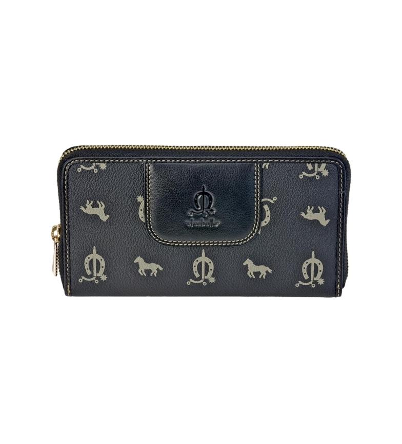 Comprar El Caballo Black canvas leather wallet -20x11x2cm
