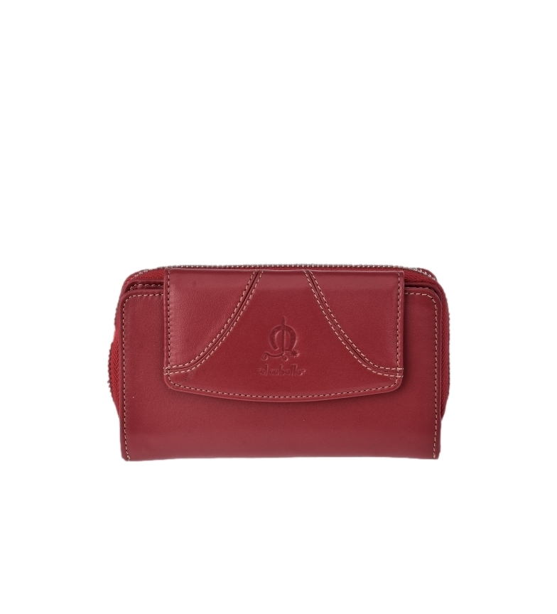 Comprar El Caballo Sedamar burgundy leather coin purse -16x9x3cm