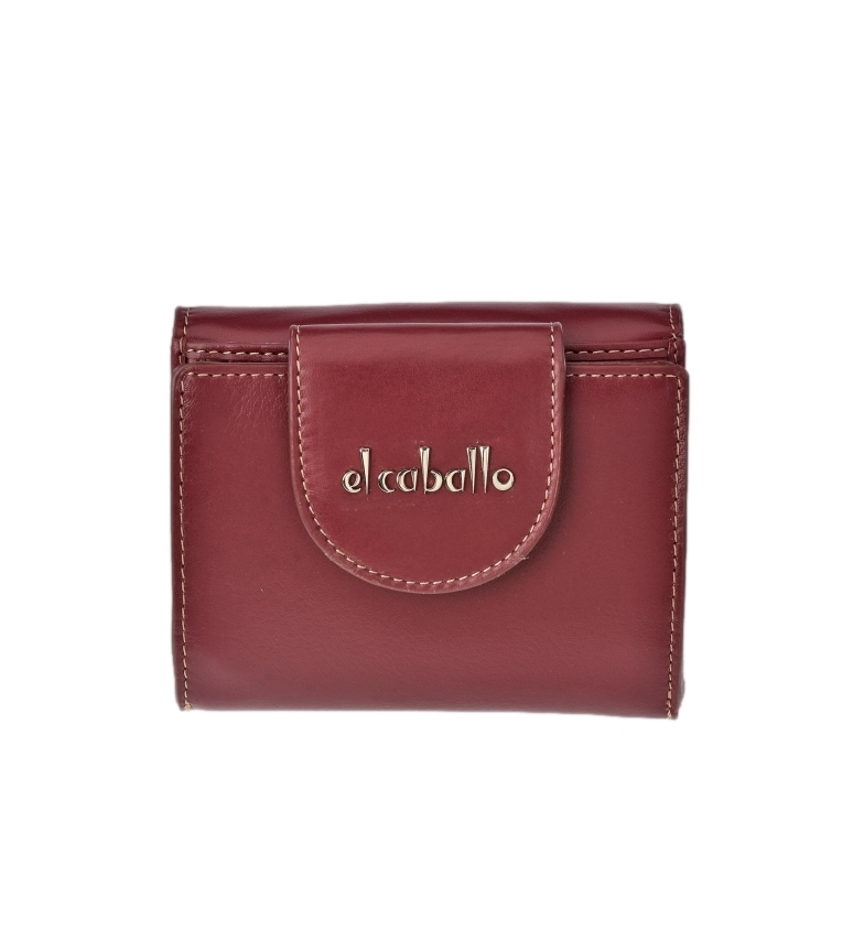 Comprar El Caballo Small purse Anicalf burgundy leather -10x10x2.5cm