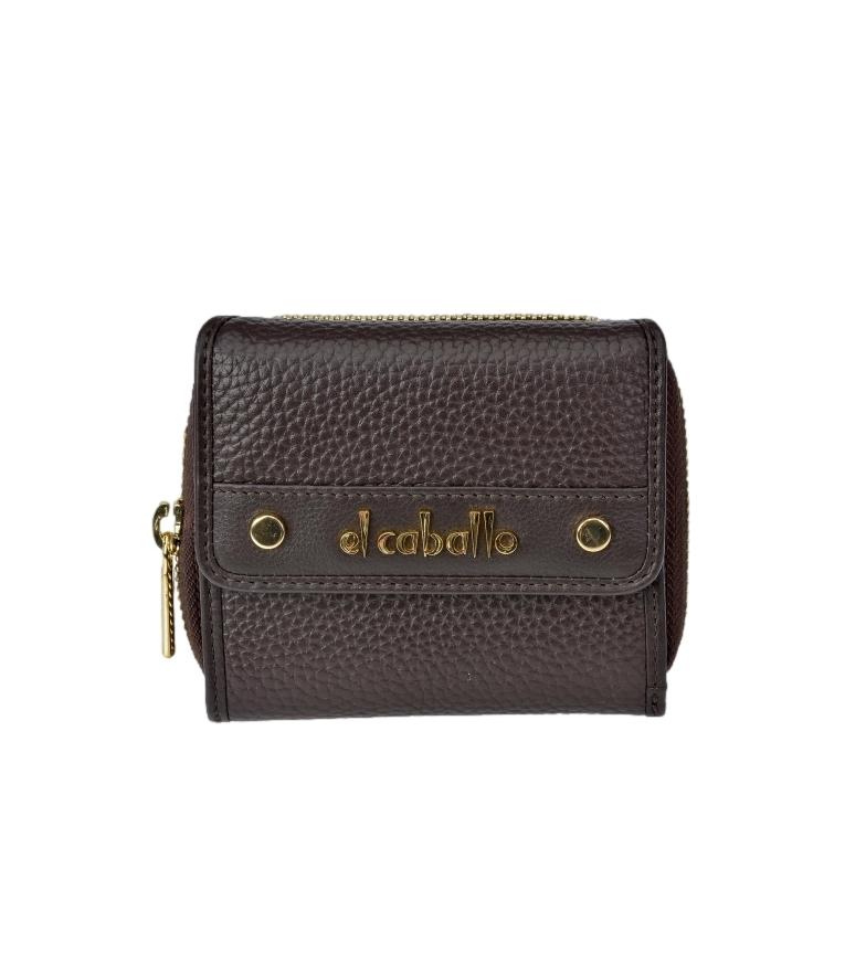 Comprar El Caballo Petit porte-monnaie en cuir Floather brun -10x9x3cm