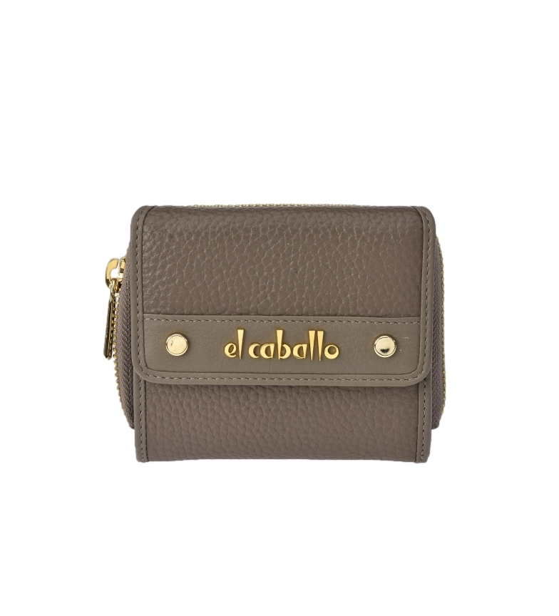 Comprar El Caballo Small green Floather leather coin purse -10x9x3cm