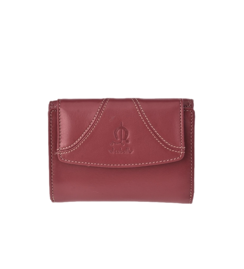 Comprar El Caballo Small purse in burgundy Sedamar leather -13x10x3cm