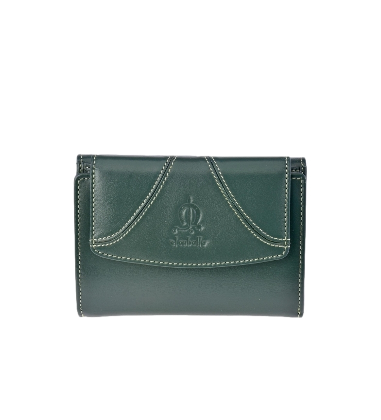 Comprar El Caballo Small green Sedamar leather coin purse -13x10x3cm