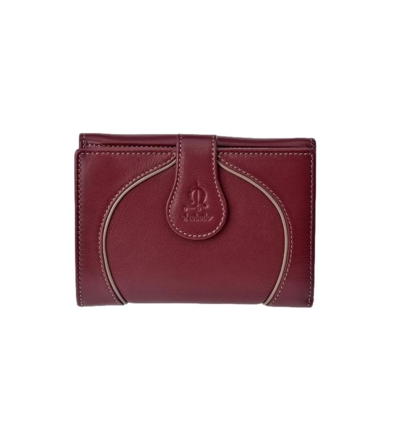 Comprar El Caballo Greta cherry leather wallet -14x10x3cm