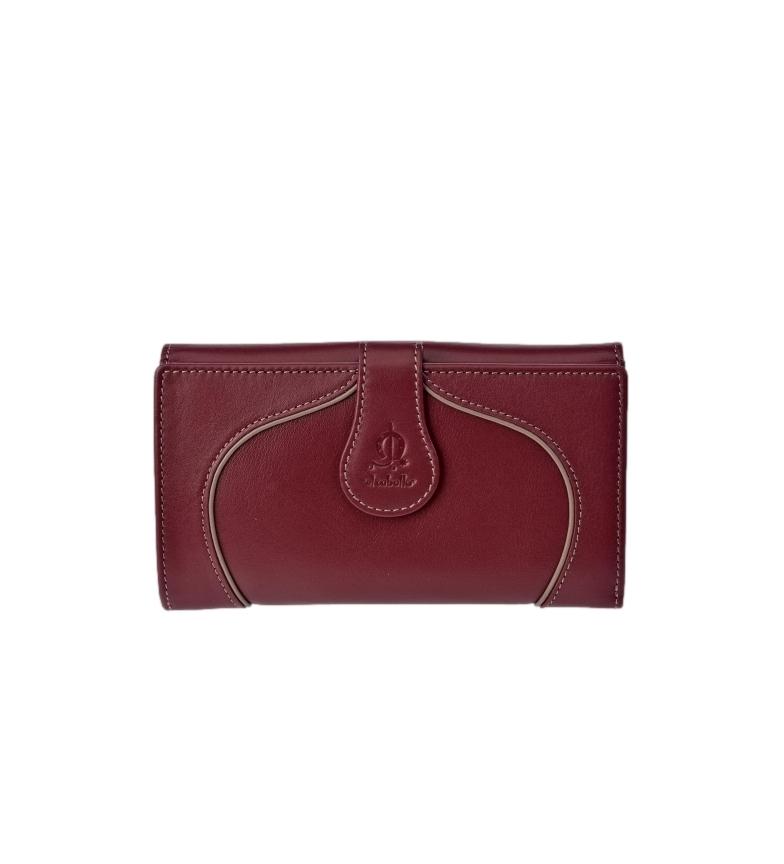 Comprar El Caballo Large cherry Greta leather coin purse -16.5x9x3cm