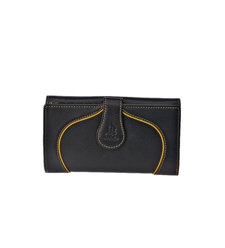 Comprar El Caballo Large black Greta leather coin purse -16.5x9x3cm