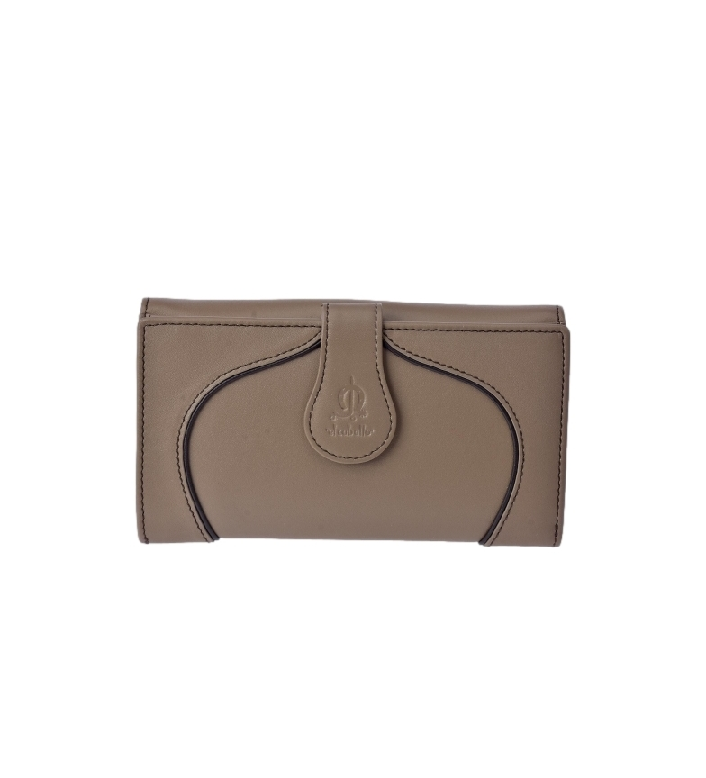 Comprar El Caballo Large Greta taupe leather wallet -16.5x9x3cm