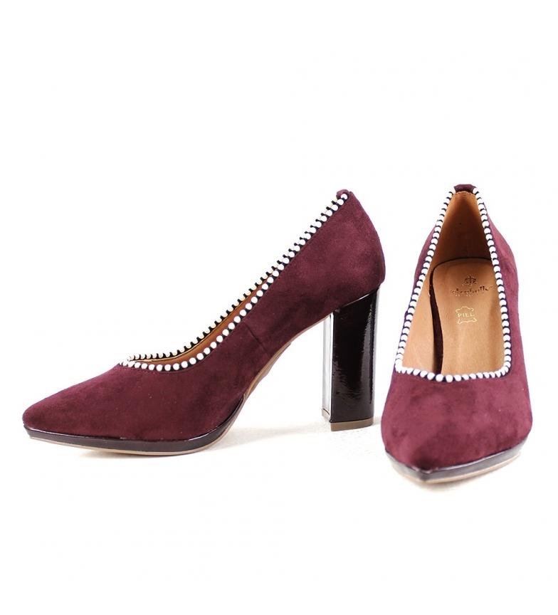 Comprar El Caballo Chaussure de fête en cuir Carmona bordeaux - Hauteur du talon : 9cm