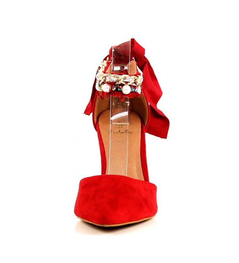 Comprar El Caballo Scarpa da festa Coria rossa -Altezza del tacco: 8,5 cm-