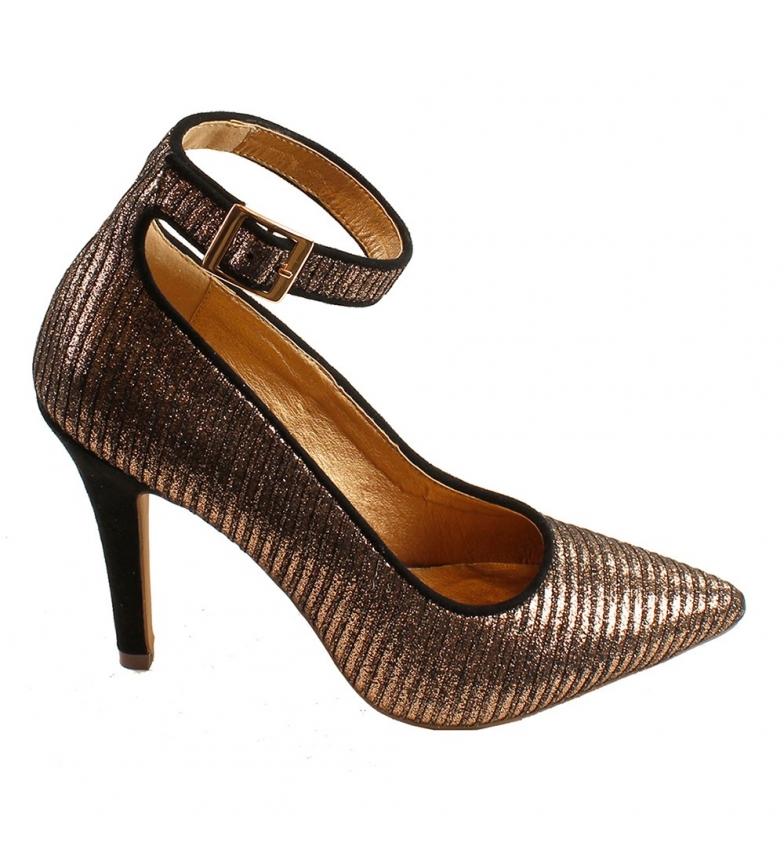 Comprar El Caballo Lebrija gold party shoe -Heel height: 8cm
