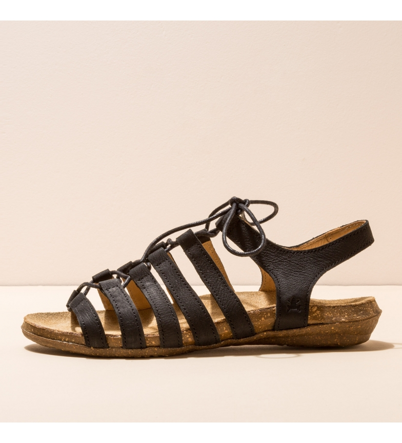 EL NATURALISTA Leather sandals N5069 Wakataua black