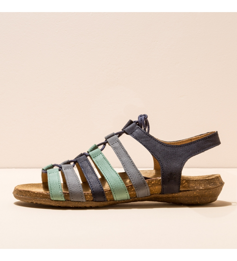 EL NATURALISTA Leather sandals N5069 Wakataua blue, turquoise