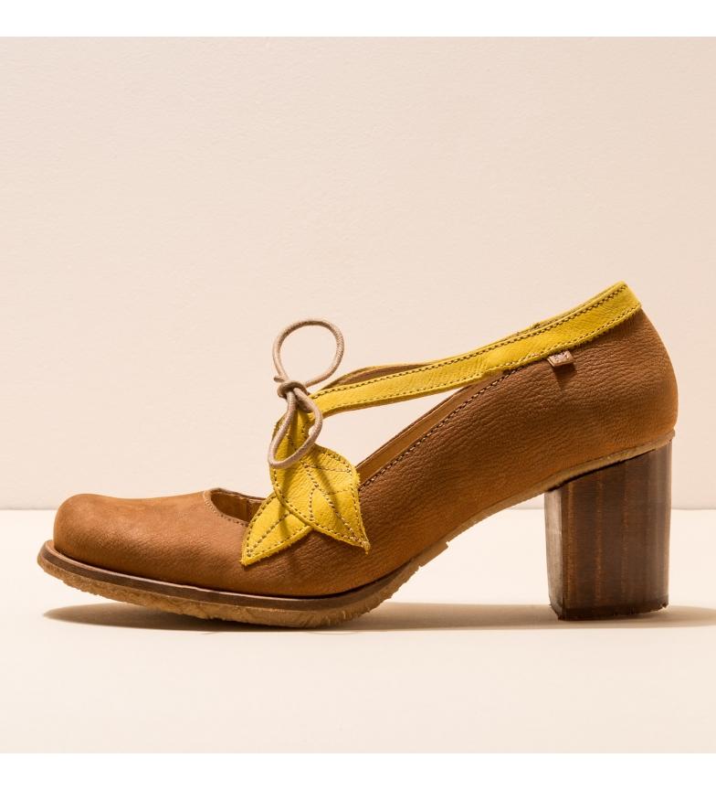 Comprar EL NATURALISTA Zapatos de piel N5113 Picot marrón -Altura del tacón: 7cm-