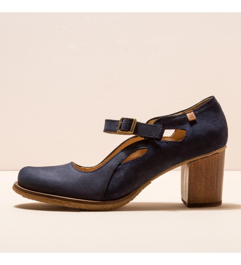 Comprar EL NATURALISTA Leather shoes N5114 Picot navy -Heel height: 7cm