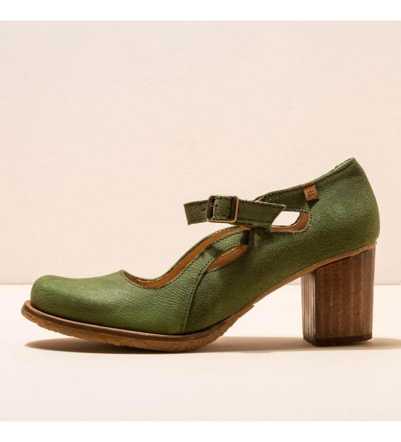 Comprar EL NATURALISTA Scarpe in pelle N5114 Picot verde -Altezza tacco: 7cm-