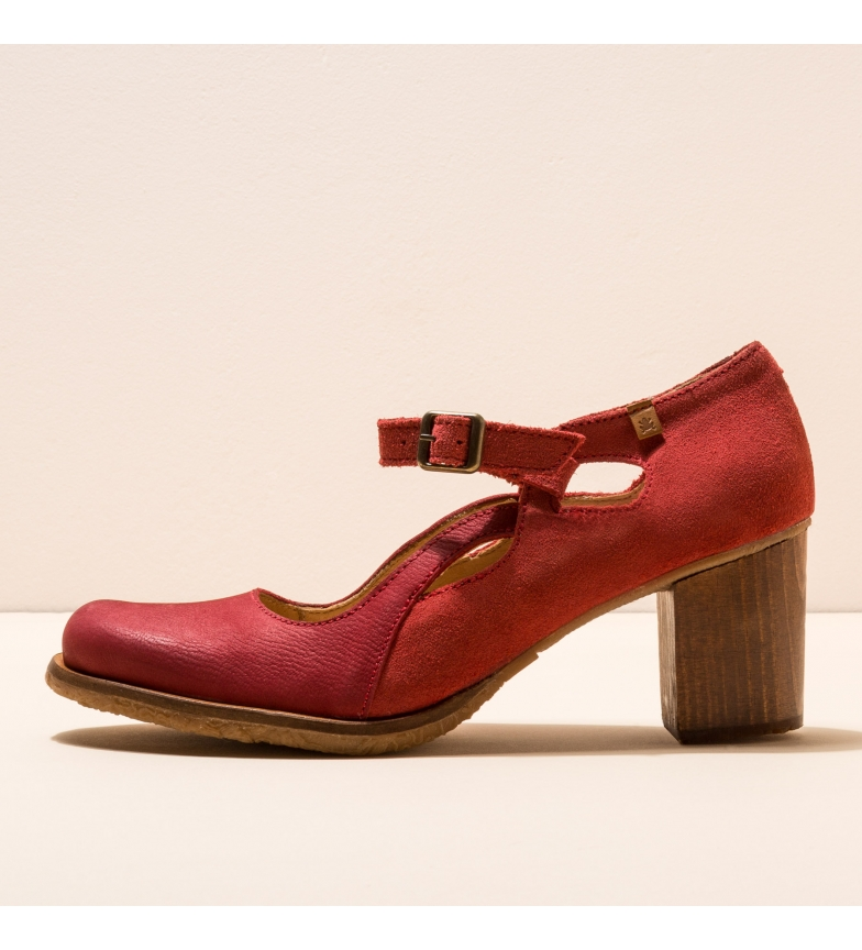 Comprar EL NATURALISTA Chaussures en cuir N5114 Picot rouge -Hauteur du talon : 7cm