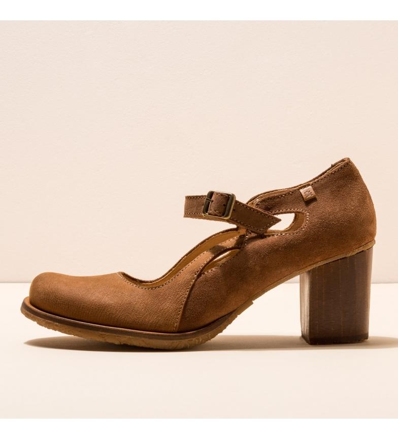 Comprar EL NATURALISTA Zapatos de piel N5114 Picot marrón -Altura del tacón: 7cm-