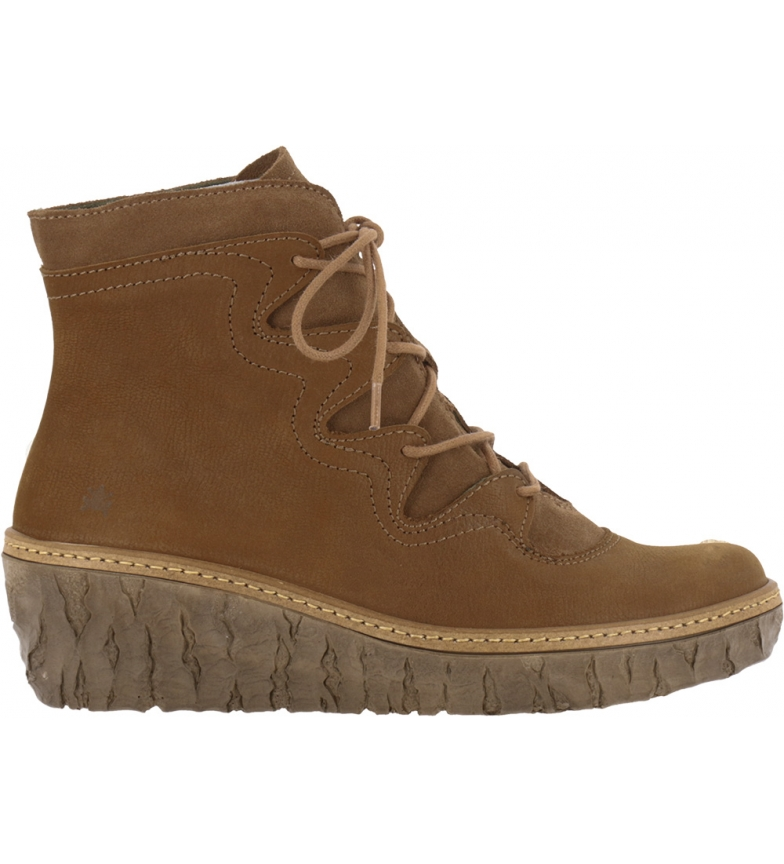 Comprar EL NATURALISTA Myth Yggdrasil leather ankle boots N5146 brown - wedge height: 5,7 cm
