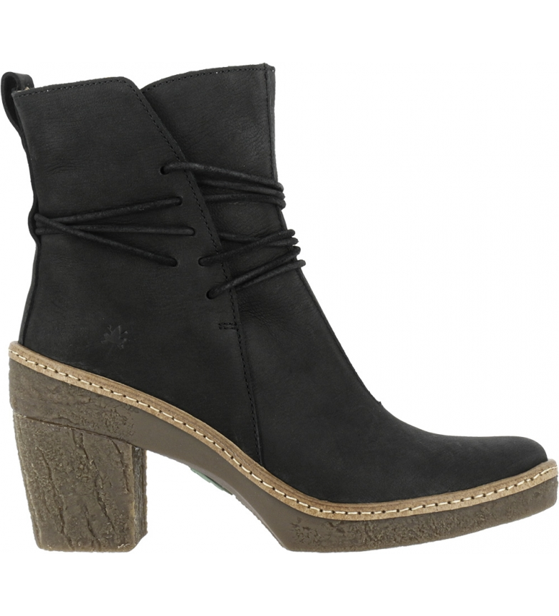 Comprar EL NATURALISTA Black leather ankle boots N5175 Pleasant -Heel height: 6cm