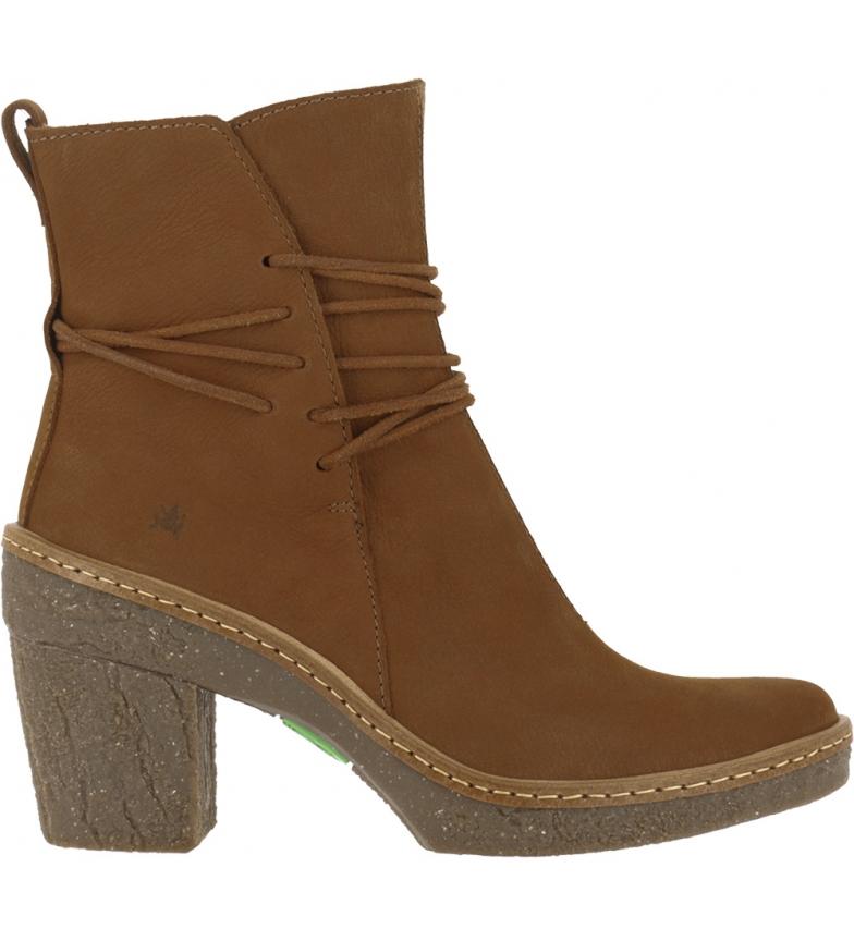 Comprar EL NATURALISTA Brown leather ankle boots N5175 Pleasant -Heel height: 6cm