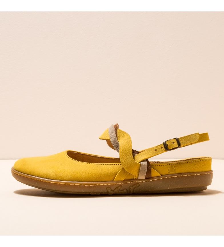 Comprar EL NATURALISTA Leather ballerinas N5227 Yellow Coral