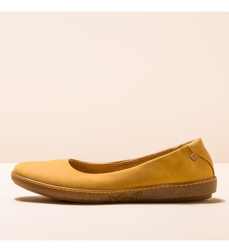 Comprar EL NATURALISTA Sapatos de bailarina em pele N5300 Coral yellow