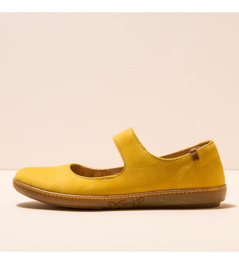 Comprar EL NATURALISTA Bailarinas de couro N5301 Coral amarelo