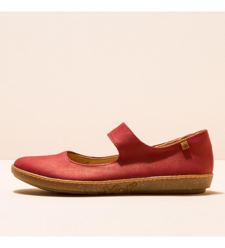 Comprar EL NATURALISTA Leather ballerinas N5301 Red coral