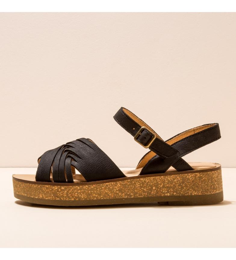 Comprar EL NATURALISTA Leather sandals N5590 Tülbend black