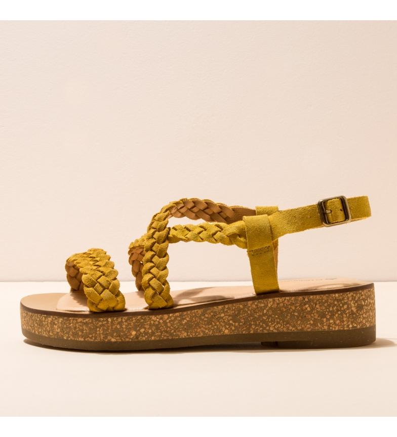 Comprar EL NATURALISTA Sandálias de couro N5595 Tülbend amarelo