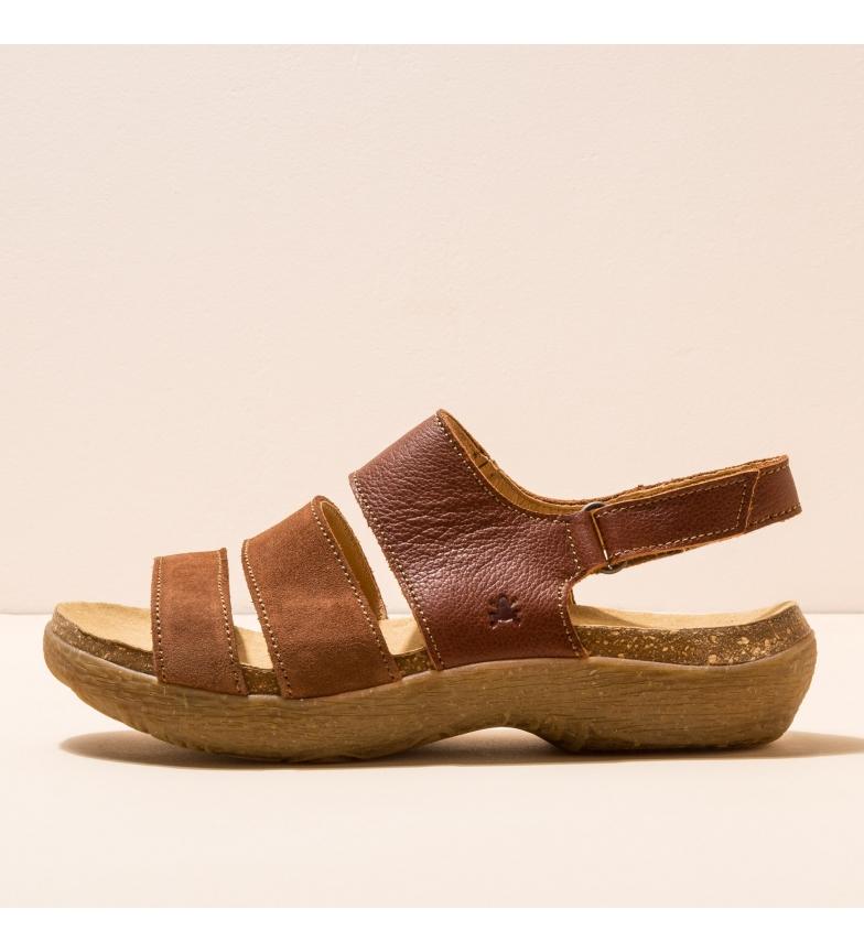 Comprar EL NATURALISTA Sandálias de couro N5702 Wakatiwai castanho
