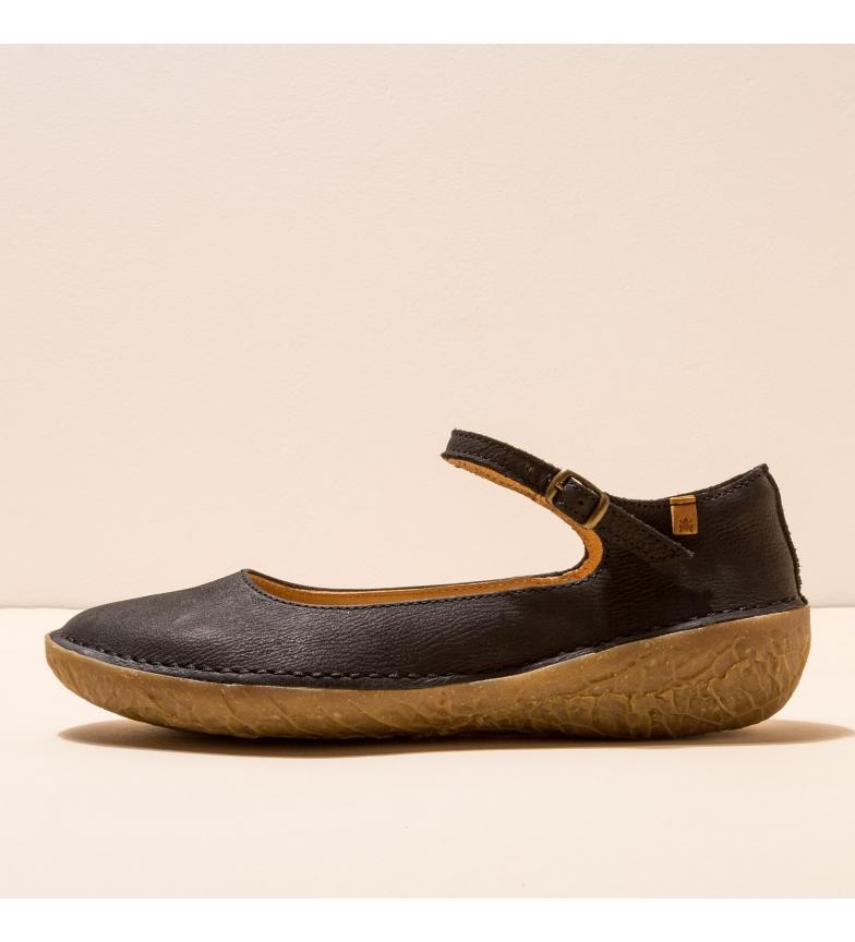 Comprar EL NATURALISTA Leather ballerina pumps N5720 Borago black