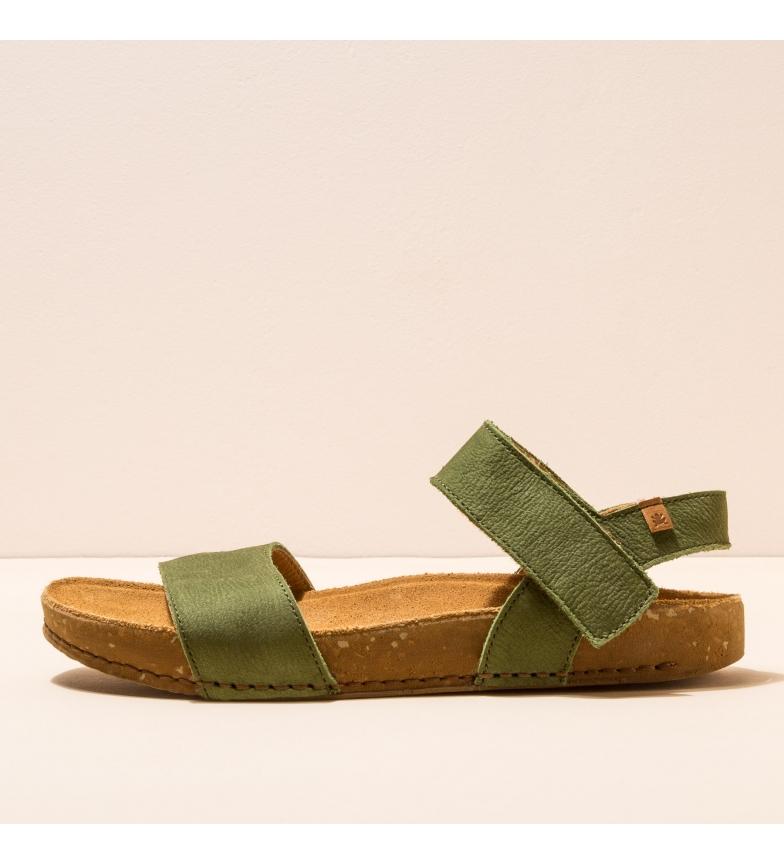 Comprar EL NATURALISTA Sandali in pelle N5790 Balance verde