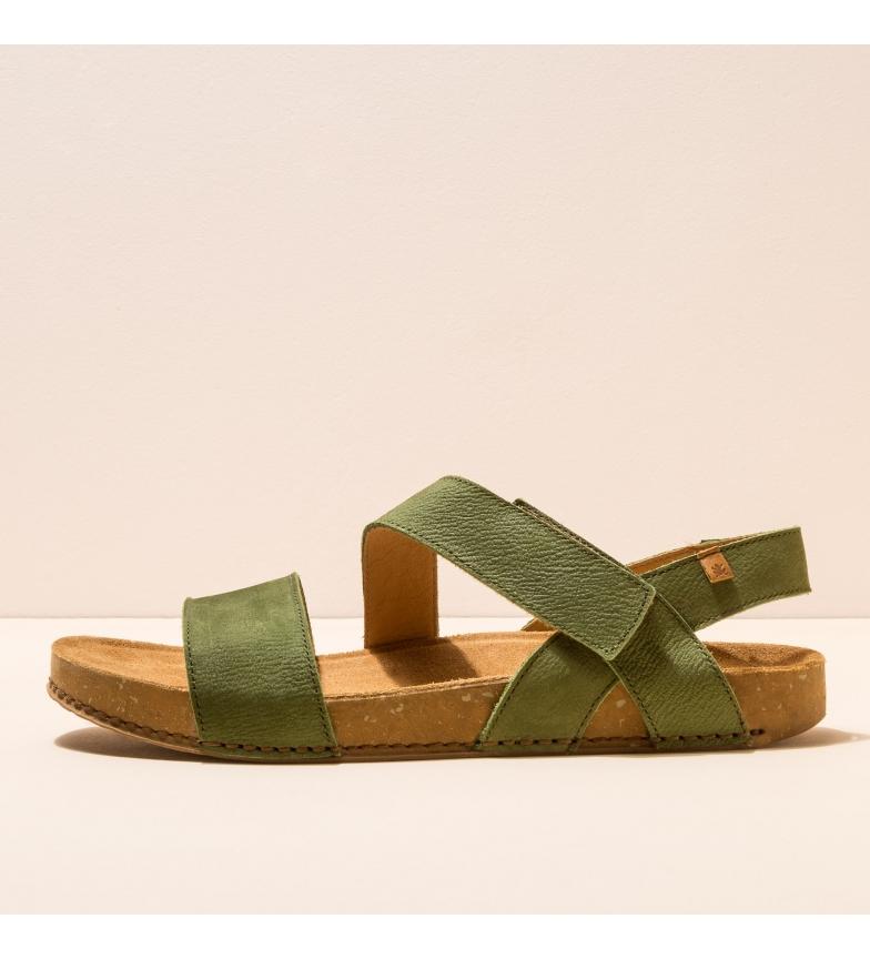 Comprar EL NATURALISTA Sandálias de couro N5791 Equilíbrio verde