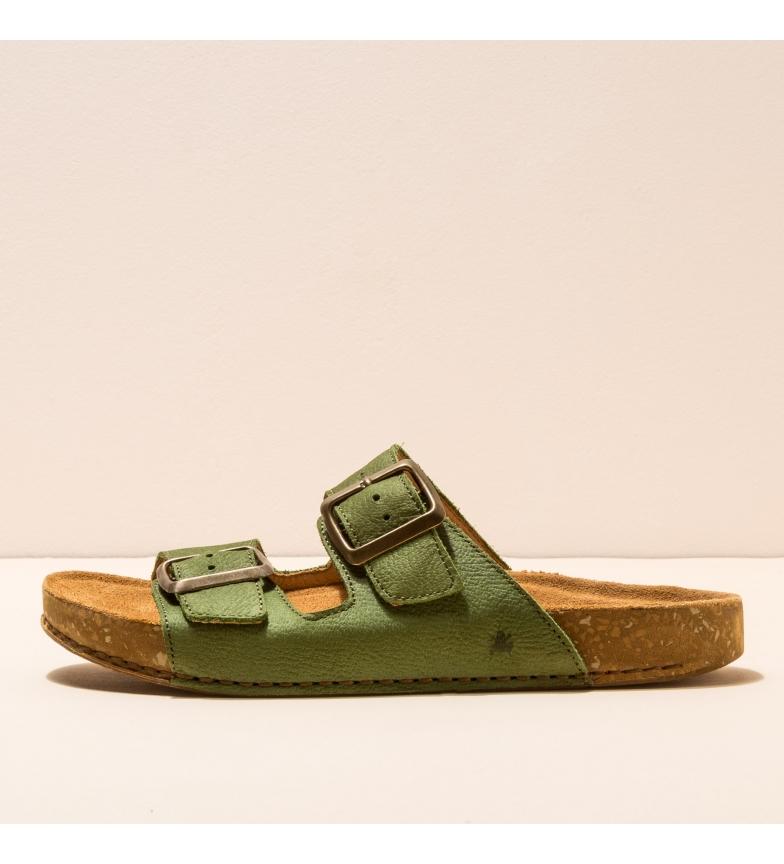 Comprar EL NATURALISTA Sandálias de couro N5794 Equilíbrio verde