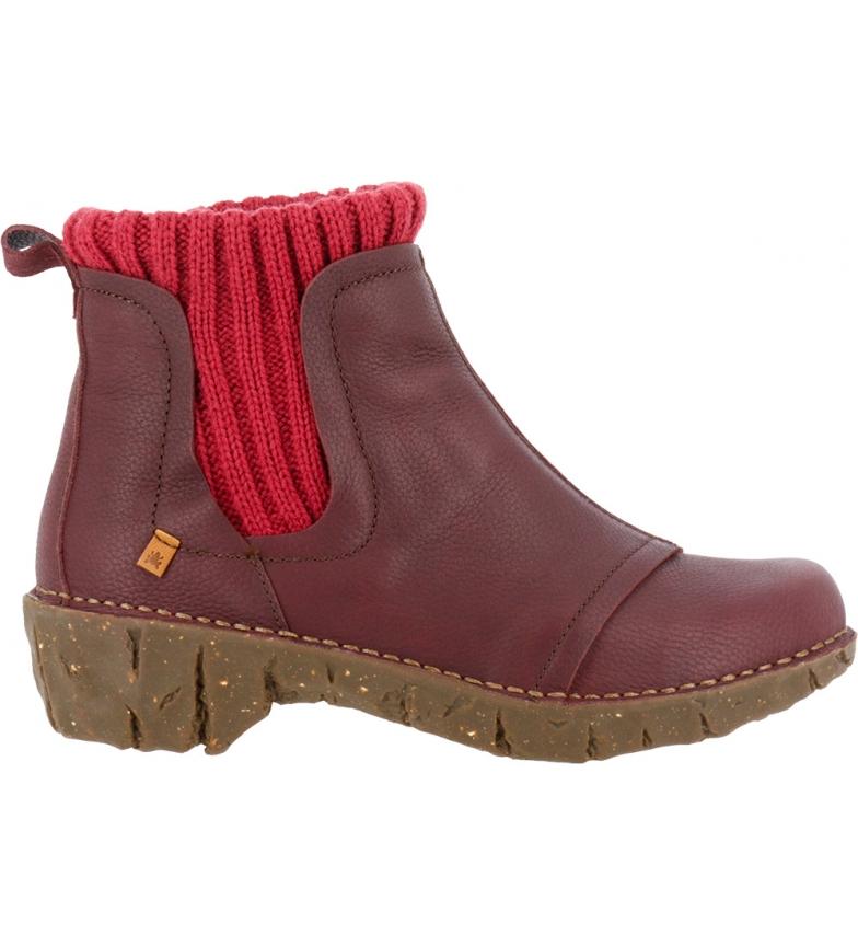 Comprar EL NATURALISTA Stivali in pelle Ne23 Soft Grain rosso - Altezza del tacco: 4,5 cm
