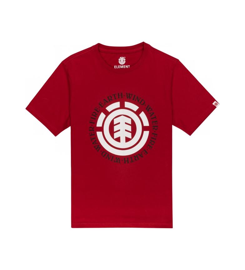 ELEMENT T-shirt rouge phoque