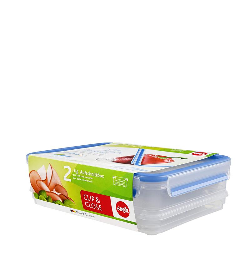 Comprar Emsa Set of 2 Hermetic Clip & Close Plastic - 1,65L / 1L