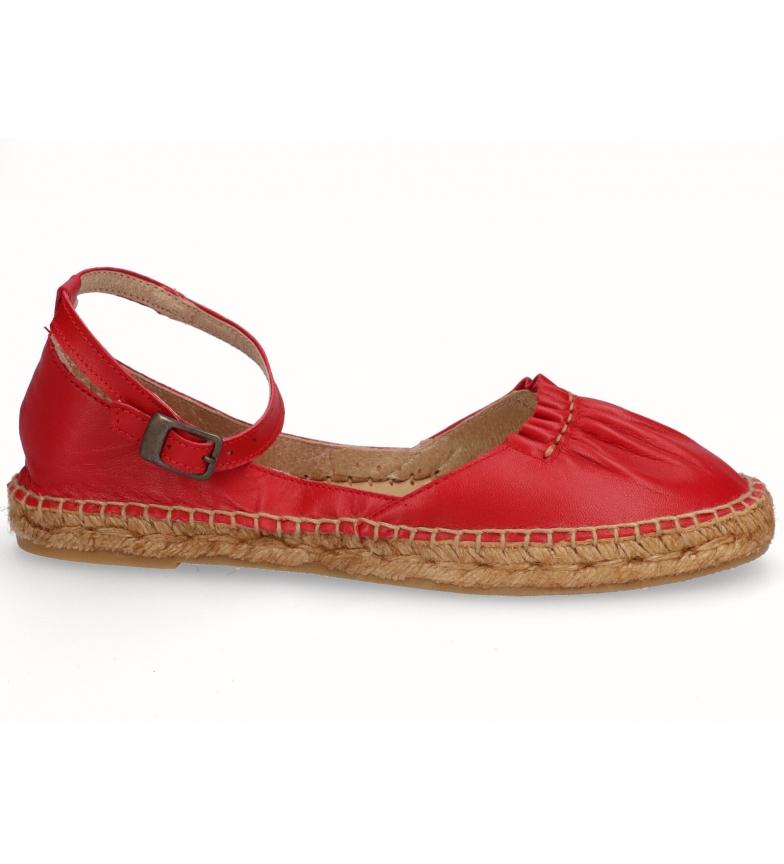 Comprar Espadrilles Espadrillas in pelle rossa Gara red