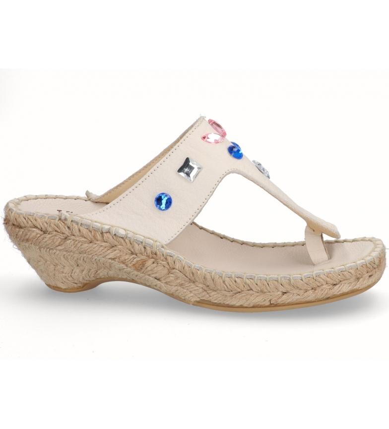Comprar Espadrilles Sandalias de piel Nilo hielo -Altura tacón: 3cm-