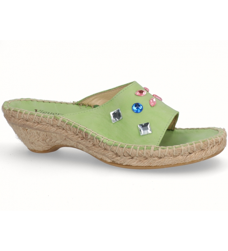Comprar Espadrilles Nilo leather sandals pistachio -heel height: 3cm