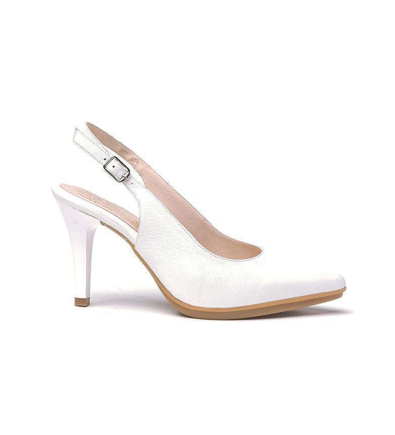 Comprar Eva Mañas Chaussures en cuir 1495 blanc - Hauteur du talon : 8,5cm