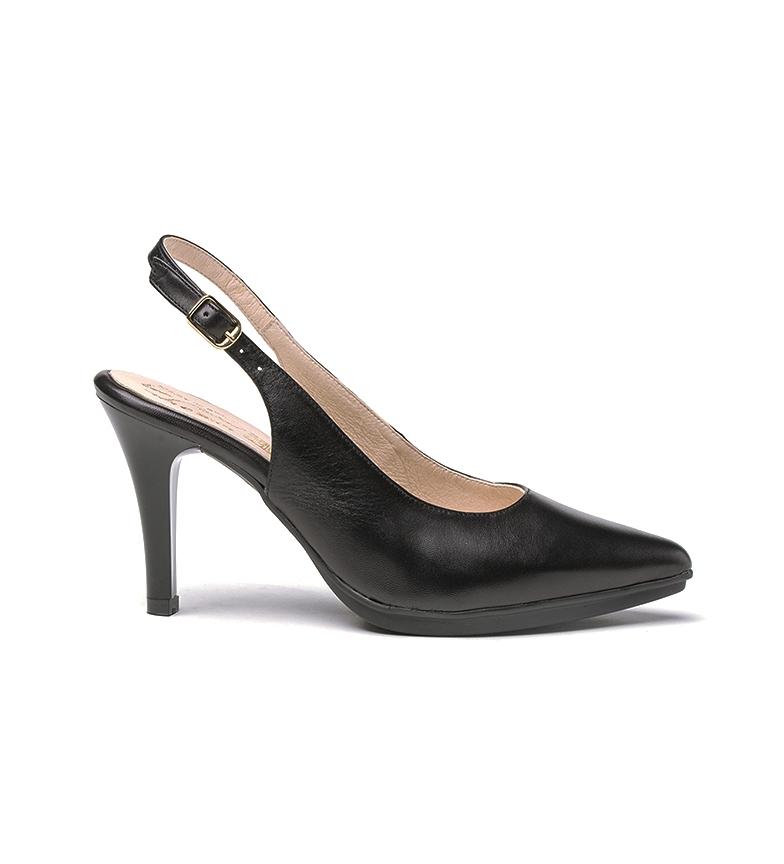 Comprar Eva Mañas Chaussures en cuir 1495 noir - Hauteur du talon : 8,5cm
