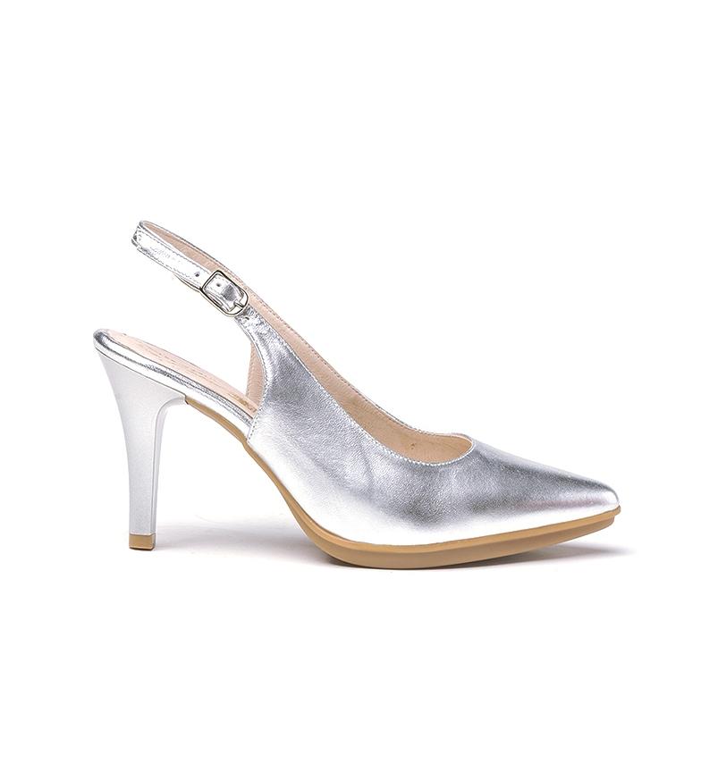 Comprar Eva Mañas Chaussures en cuir 1495 argent - Hauteur du talon : 8,5cm
